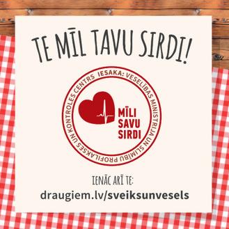 """Noslēgusies akcija Latvijas restorānos un kafejnīcas """"Te mīl Tavu sirdi!"""""""