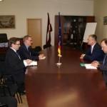 Par tikšanos ar Vācijas Federatīvās Republikas vēstnieku Latvijā