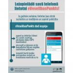 Mobilās lietotnes eVeselībasPunkts jaunākajā versijā pieejama arī medicīnas iestāžu karte