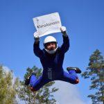 Aerodium donoriem dāvina lidojumu