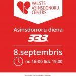 """Aicina uz asinsdonoru dienu sporta kompleksā """"333"""""""