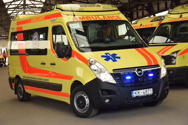 Prezentēs NMP dienesta brigāžu jaunos operatīvos medicīniskos transportlīdzekļus darbam Rīgas reģionā