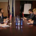 Veselības ministre Anda Čakša tiekas ar ASV vēstnieci Latvijā