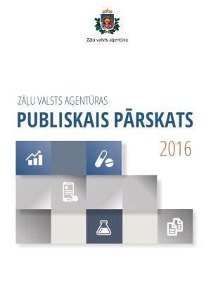 Zāļu valsts aģentūra publicē 2016. gada publisko pārskatu