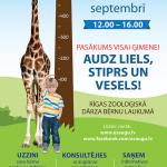 """Rīgas zooloģiskajā dārzā notiks bērnu veselīgai augšanai veltīts pasākums """"Audz liels, stiprs un vesels"""""""