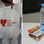Aptaujājot donorus, mainīts donoru uzkodu paciņas saturs