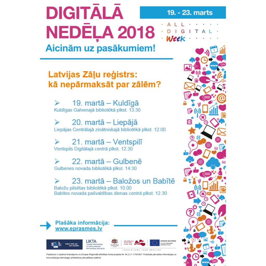 slimibas.lv Digitālajā nedēļā Zāļu valsts aģentūra stāstīs par Latvijas Zāļu reģistru un informācijas meklēšanas iespējām