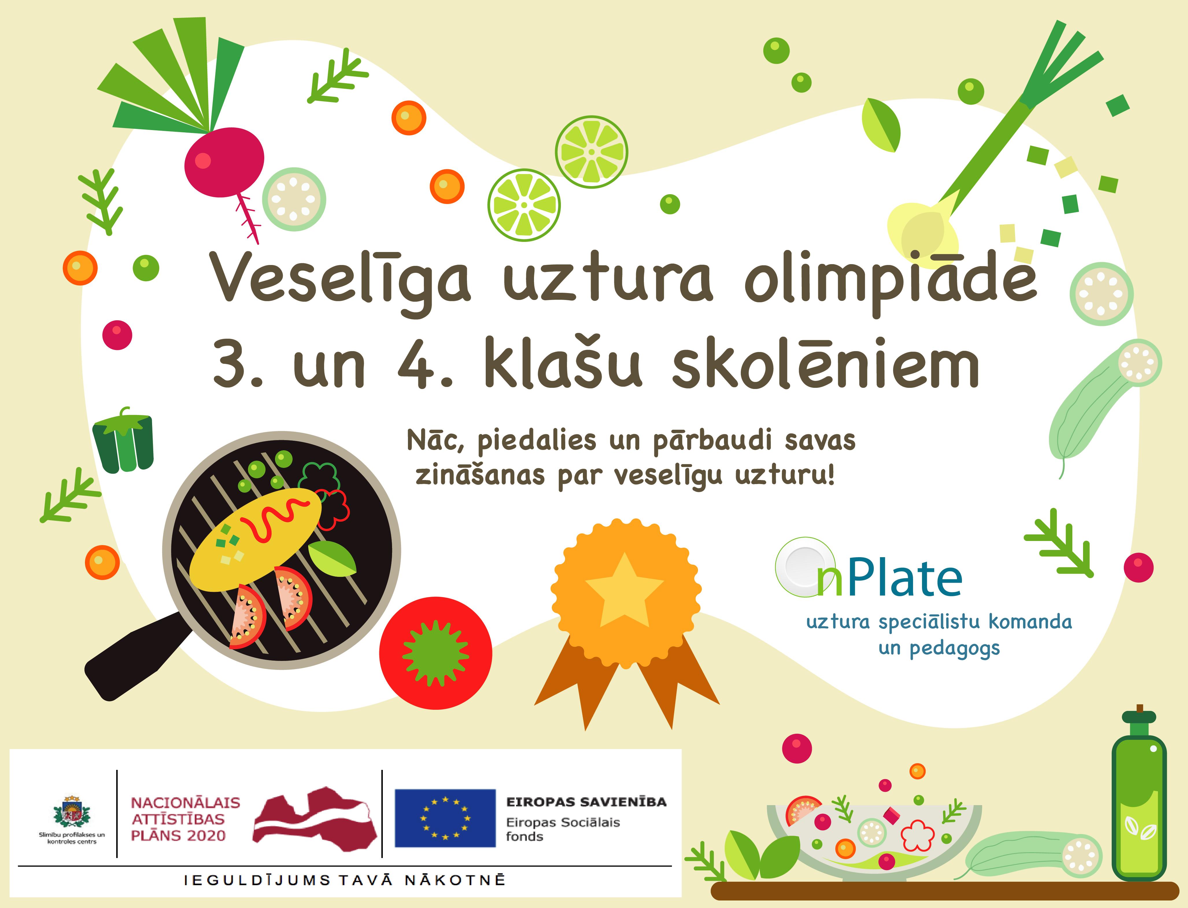 Veselīga uztura olimpiādes 3.-4. klašu skolēniem