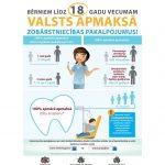 Bērniem līdz 18 gadu vecumam valsts apmaksā zobārstniecības pakalpojumus