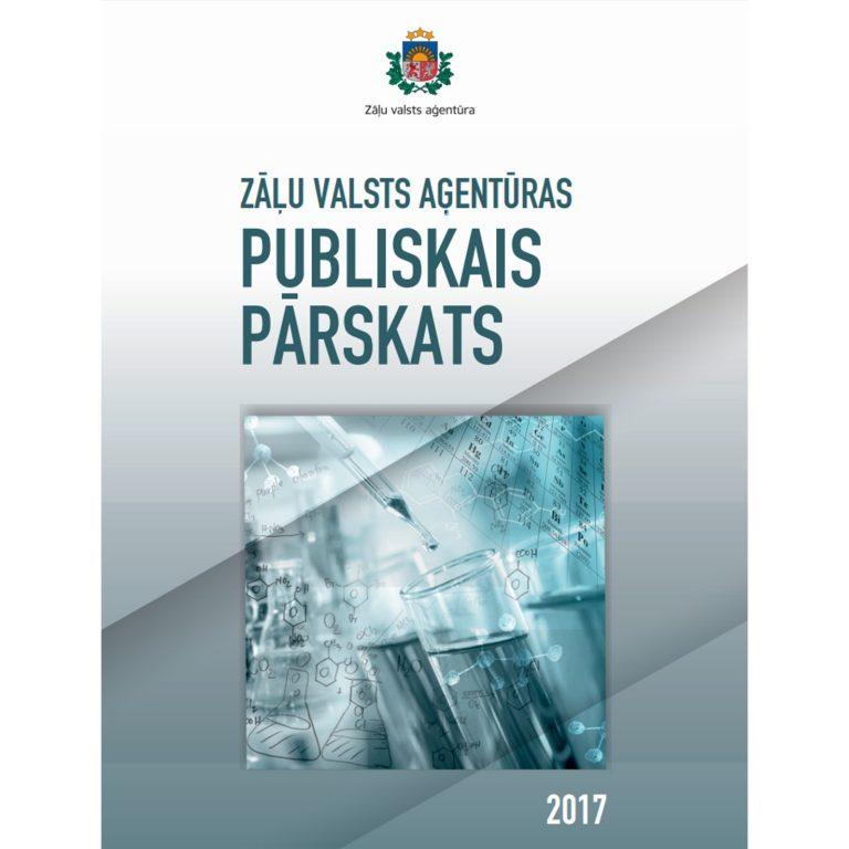 Zāļu valsts aģentūra publicē 2017. gada publisko pārskatu