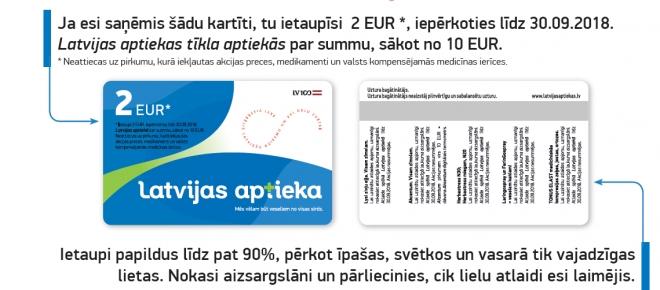 Latvijas aptieka visiem donoriem dāvina vairākkārt izmantojamu atlaižu karti